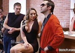 Cali Carter rides big throbbing cock like a true champ