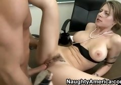 Sexy yellow-haired mature female Velicity Von blows the dick