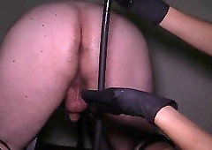 Sweet masseuse gives her new client a very good rectal massage