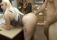 blonde whore gets fucked in the back room zznew.in