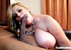 Huge ass girl is naked riding cock
