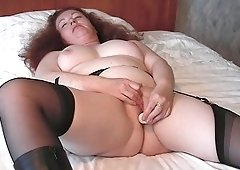 Gerda is a fatty who likes fingering and toying her pussy big time