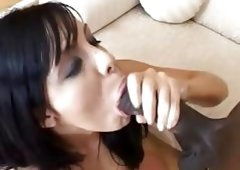 Stunning Lorena Sanchez gets her juicy moist cunt crammed with thick black cock