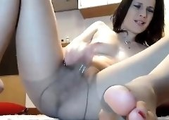 Nylon pantyhose masturbation solo with kelly candy