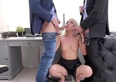 Hot anal moments with Bambi Dee, Vincent Vega and Andrew Marshall