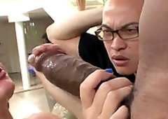 Cuck watches his beautiful girlfriend fuck a huge black dick