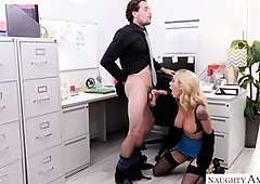 Activity In Office With Big-Titted Tattooed Bitch - PornGem