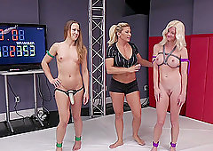Hardcore cat fight with Serene Siren and Cheyenne Jewel with a strapon