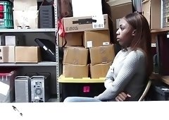 Shoplyfter  Hot Ebony Teen Pounded For Stealing