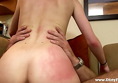 Tall slender chick Skylar Green is fucked hard by brutal and insatiable dude