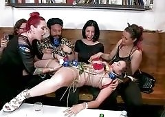 Bella Rossi Was Bound And Fucked In A Crowded Bar