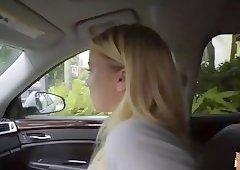 Stranded teen Bailey Brooke earns a hardcore breakup sex.