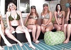 Vicky Vette's Neighborhood Orgy! 6 Girls!