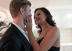 Natural boobs wife doggystyle smashed while she moans