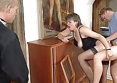 Swedish GILF Martha Karlsson fucks the priest (2 scenes)
