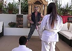 Scarlet De Sade learns Karl Kwon Do