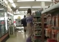 Asian Girl Casually Fucks in Store