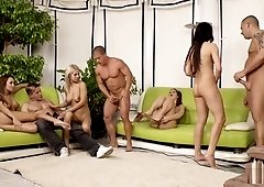 Kinky musical chairs sex game part 4