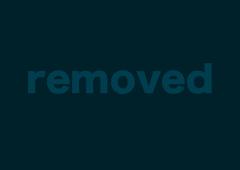 High-heeled brunette in tight black pants looks so sweet