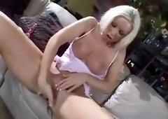 Pink dildo blondi