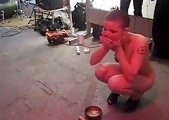 crazy nude electro ritual show