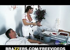 Slutty Diamond Foxx gives her patients special treatment