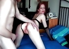 Amateur Redhead Goth gets it from behind