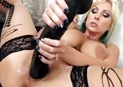 Mom Playing With Her Massive Dildo 4