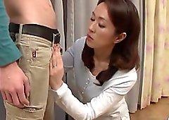 Wifey Shizuka Akiyama loves blowing his dick and swallowing cum