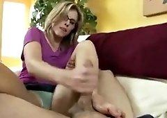 my horny mom gives my best friend deepthroat blowjob