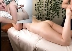 Cute young babe with a perfect ass gets sensually massaged