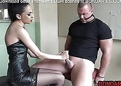 Crazy Russian guy gets a tug job from eastern European babe