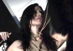 Alluring Black Sonja explores her desire for domination and pleasure