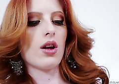 Amazing bright redhead Alex Harper suits well for some hardcore DP