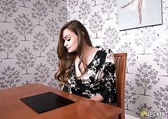 Awesome upskirt video with charming UK babe called Honour May
