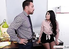 Lovely and sexy secretary Brenna Sparks sucks her boss in 69 position