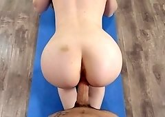 Teen slut fucked at the gym and jizzed on face