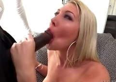 Alluring golden-haired young gal Lexi Lowe is sucking my cock