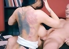 Black-haired barbie with big ass likes anal fuck so much