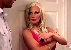 Big tittied blond stepmom Brittany Andrews seduces her handsome stepson Danny