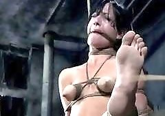She loves having her tits tied up real good BDSM