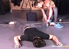 lustful bitch assfucked with ball-dildo and flogged