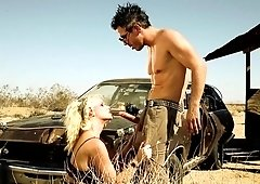 Anikka Albrite creampied hard in the desert