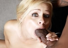 Payton Leigh Got A Mouthful Of Black Meat
