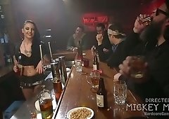 Kinky dudes fuck whore Rachael Madori and cums on her opened eyes