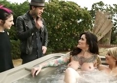 Amazing tattooed huge breasted Joanna Angel is so into working on dick