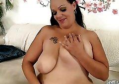 Sexy BBW Savannah Star loves masturbating and her phat ass is money maker