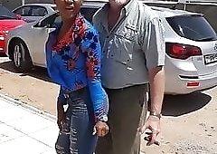 Me dad with a black hoe in Kenya