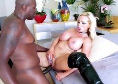Amazing breasty teen Nikki Benz brings dude to ejaculation