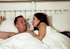 Hot Ashley Adams gets talked into riding a long stiff pecker